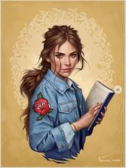 Digital Art Portrait Belle