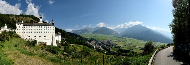 Panoramic view from Marienberg Abbey (Abtei Marienberg / Abbazia Monte Maria) / South Tyrol (Südtirol)