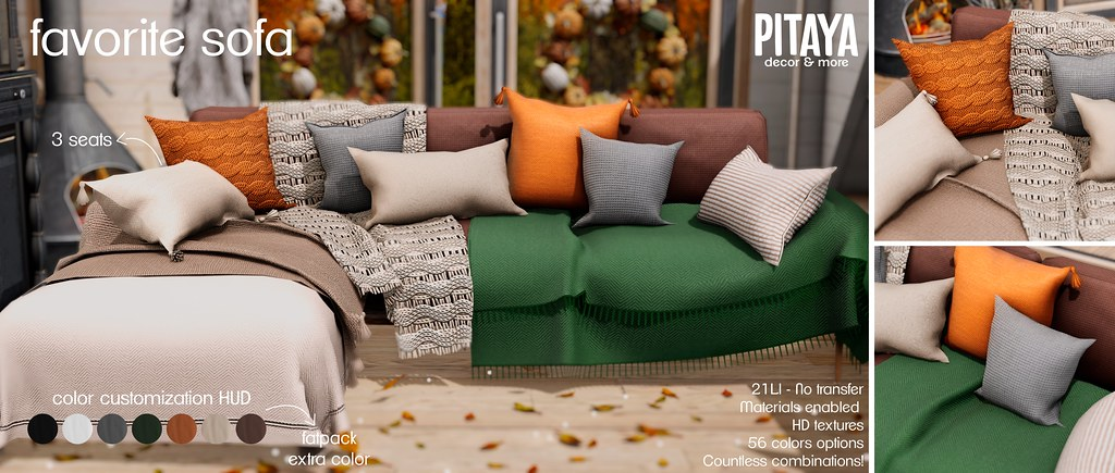 Pitaya - Favorite Sofa @ Kustom9