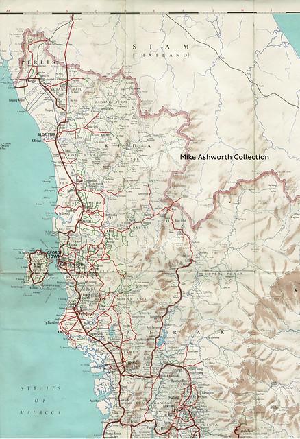 Shell Road Map of Malaya, 1958 -