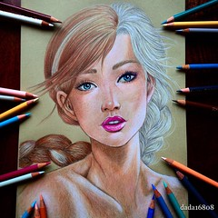 Color Pencil Drawing Two Sisters
