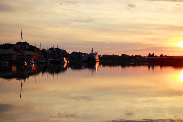 sunrise in Saint-Malo
