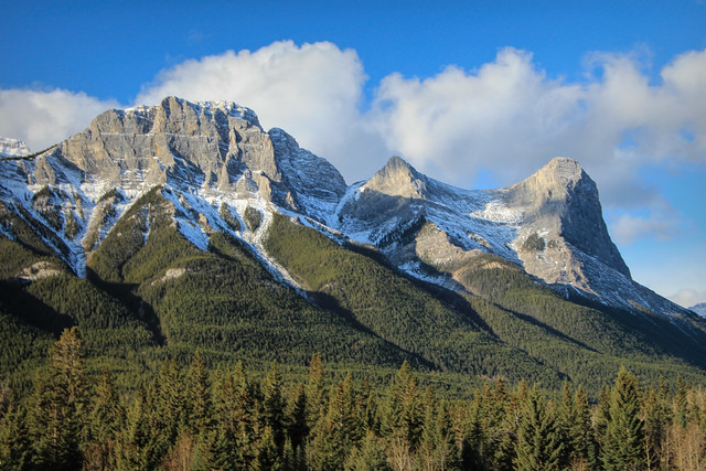part of the Mount Rundel Range, Near Canmore Alberta