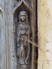 west door: Blessed Virgin at the Annunciation (15th Century)