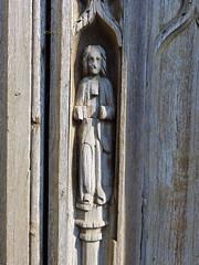 west door figure: St Luke the Evangelist? (15th Century)