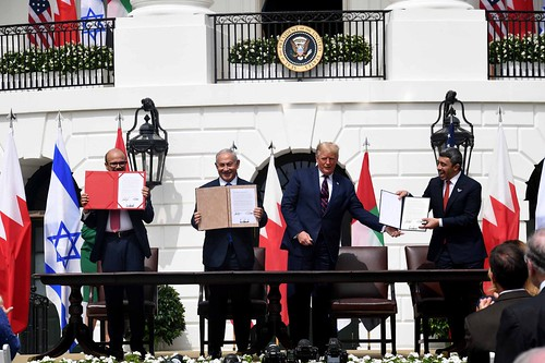Signing of the Bahrain-Israel-US Agreement