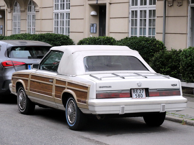 1983 Chrysler Le Baron convertable BE27580 -personal import by its returning Danish owner who had lived with it in USA