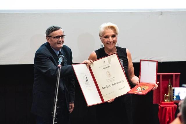 mirjana karanović nagrada a.lifka palić2020