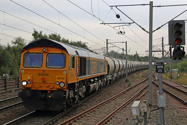 GBRf Class 66 66724-'Drax Power Station' - Wigan North Western.