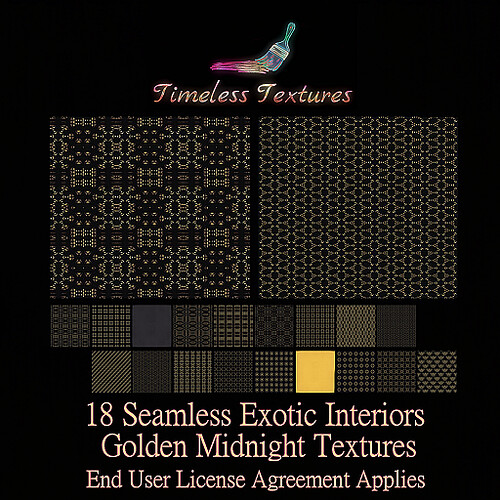 TT 18 Seamless Exotic Interiors Golden Midnight Timeless Textures