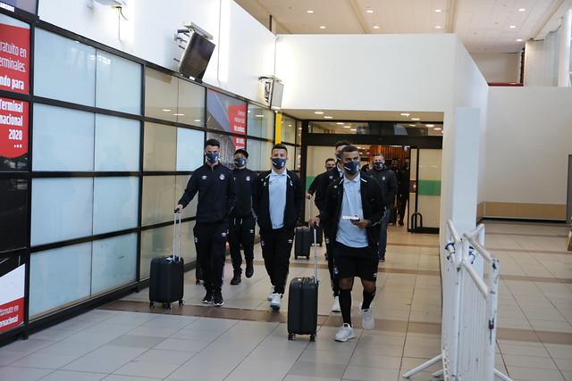 Desembarque Grêmio em Santiago - Chile - 15/09/2020