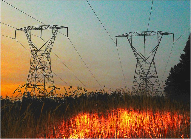 Not Exactly Fire on the Mountain ~ Twin Pylons at Sunset