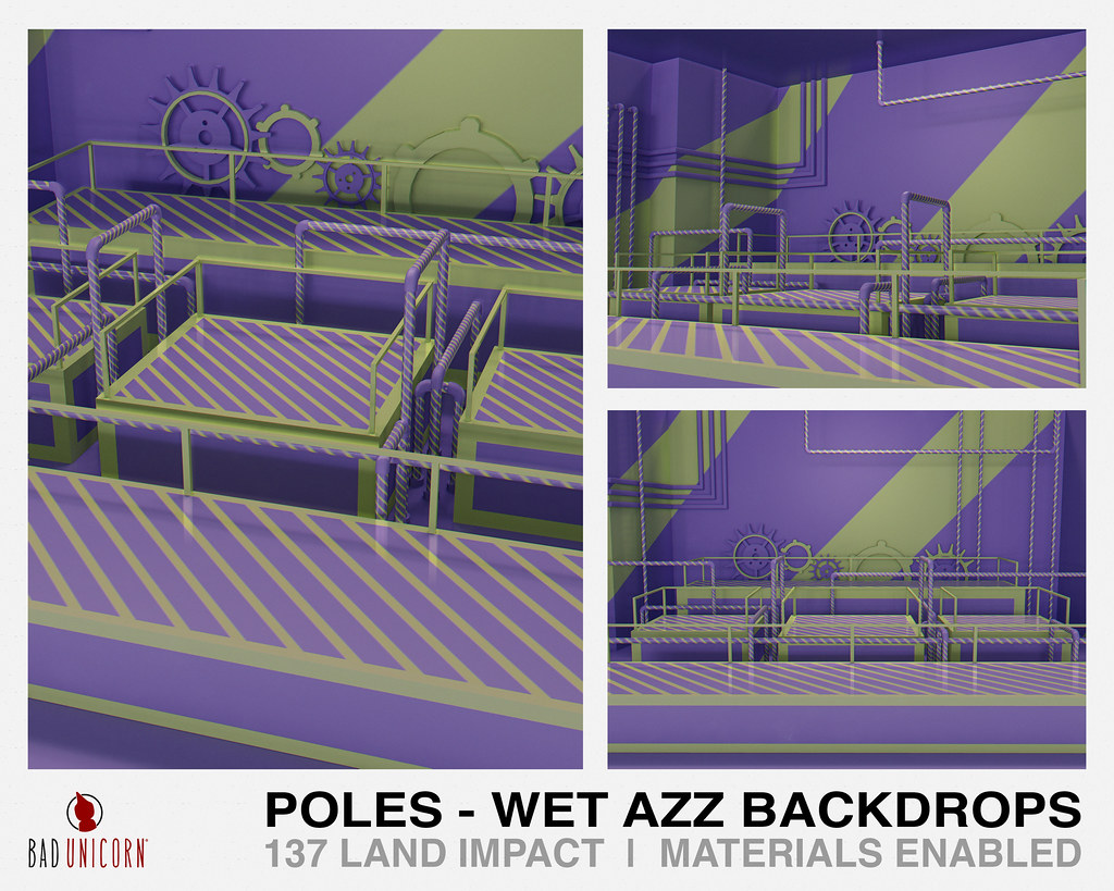 NEW! Poles – Wet Azz Backdrops