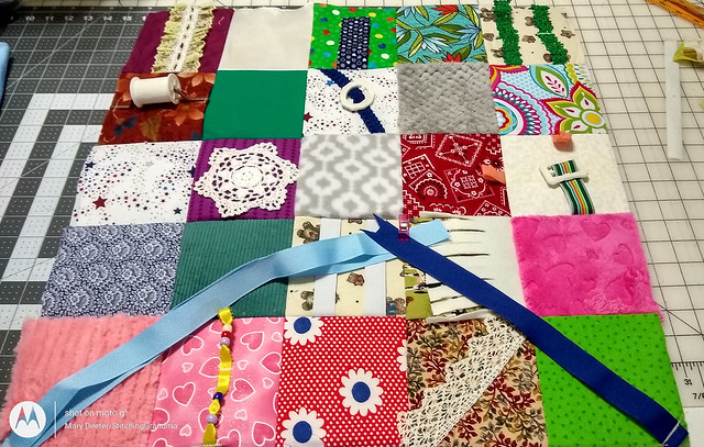 making fidget quilts