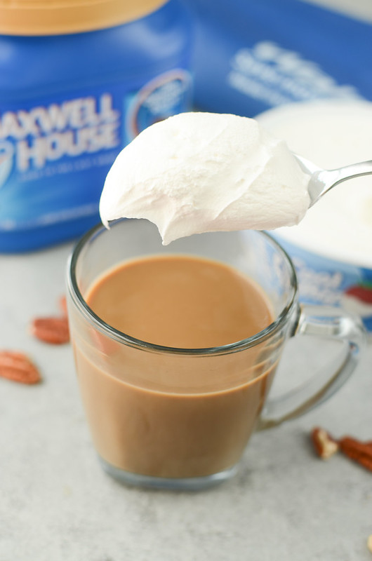 Butter Pecan Coffee - easy homemade recipe! It tastes like you dropped a scoop of butter pecan ice cream in your coffee!
