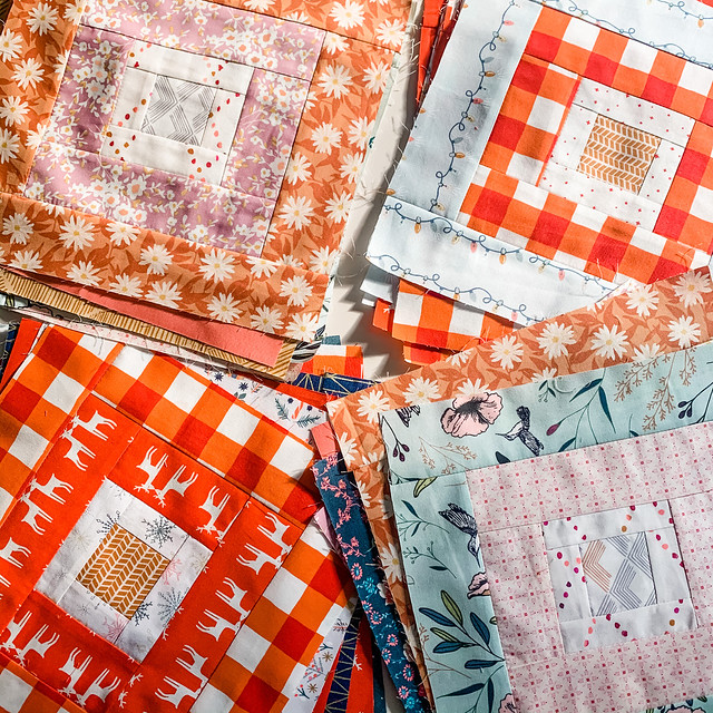 Log Cabins for Four Quilts