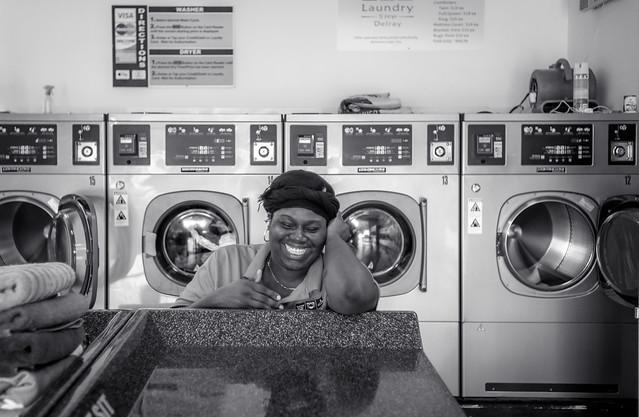 Portrait at the Laundromat
