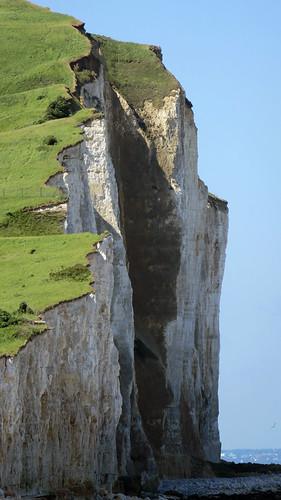 Chalk cliffs in Treport, France