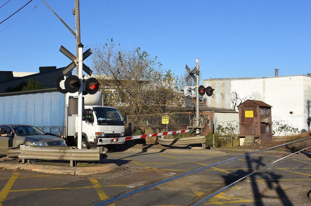 General Holmes Drive Level Crossing, Mascot, Sydney, NSW.