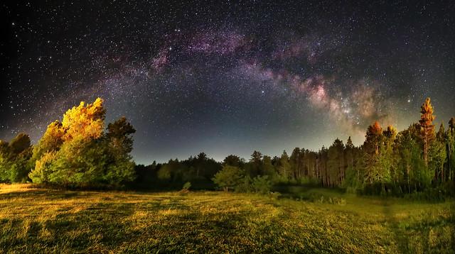 Milky Way Panorama Rainbow Canon Ra Catskill  NY Astrphotography