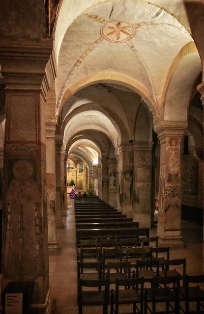 Pillars in the lower San Fermo church