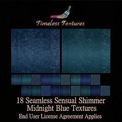 TT 18 Seamless Sensual Shimmer Midnight Blue Timeless Textures
