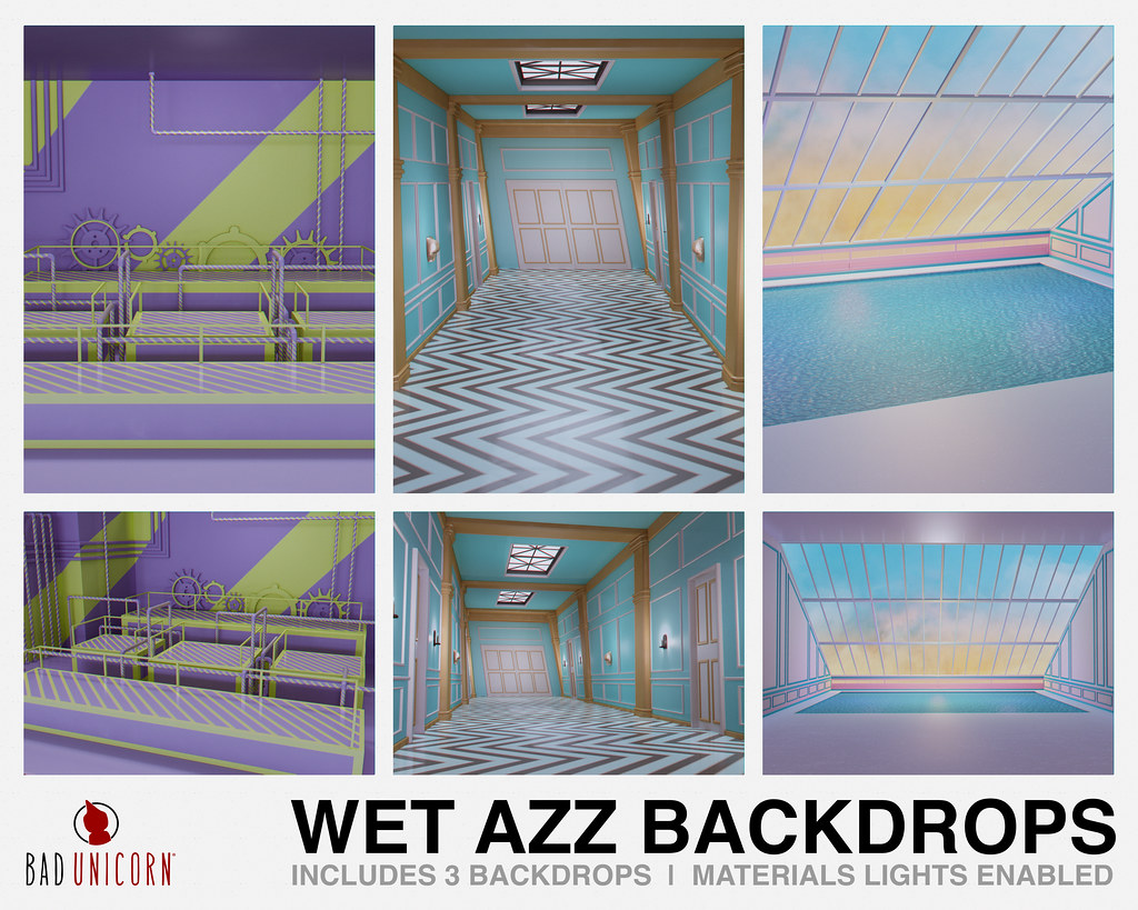 NEW! Wet Azz Backdrops