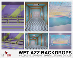 NEW! Wet Azz Backdrops