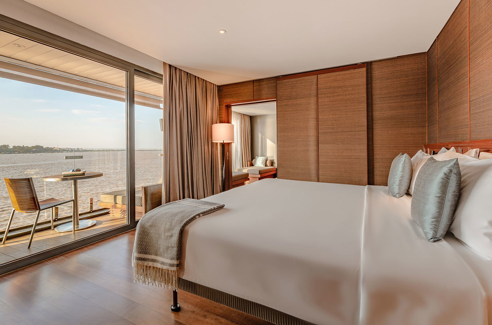 A suite on Aqua Mekong Cruise