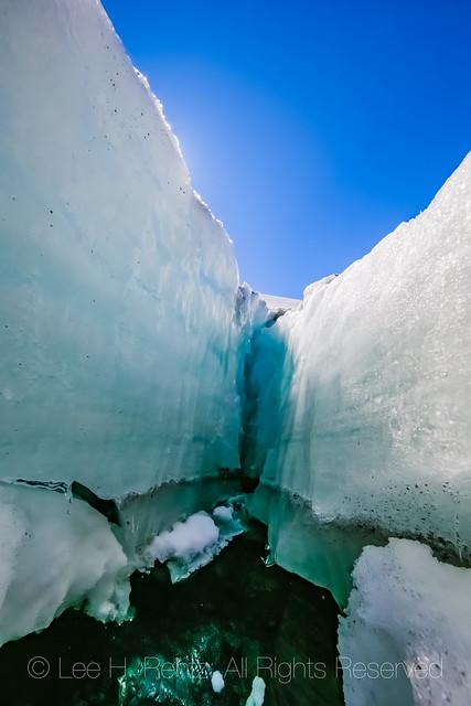 Crevasse in Coleman Glacier on Heliotrope Ridge