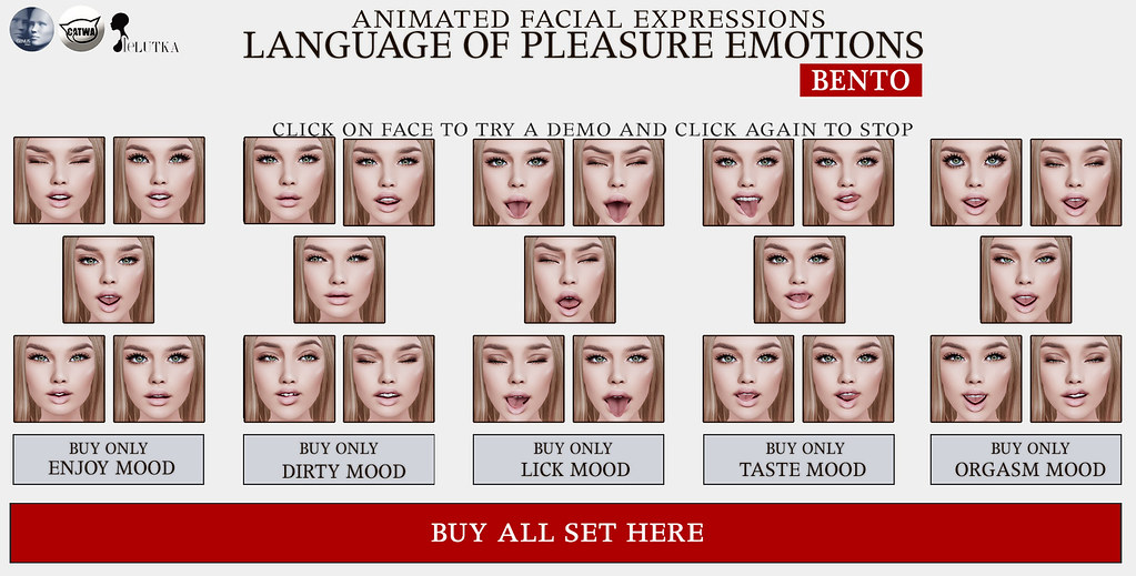 SEmotion Language of Pleasure Emotions HUDs