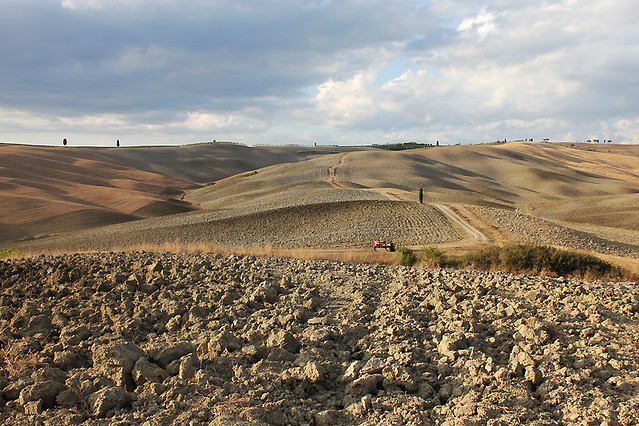 Val d'Orcia in August
