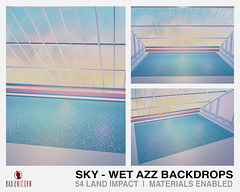 NEW! Sky - Wet Azz Backdrops