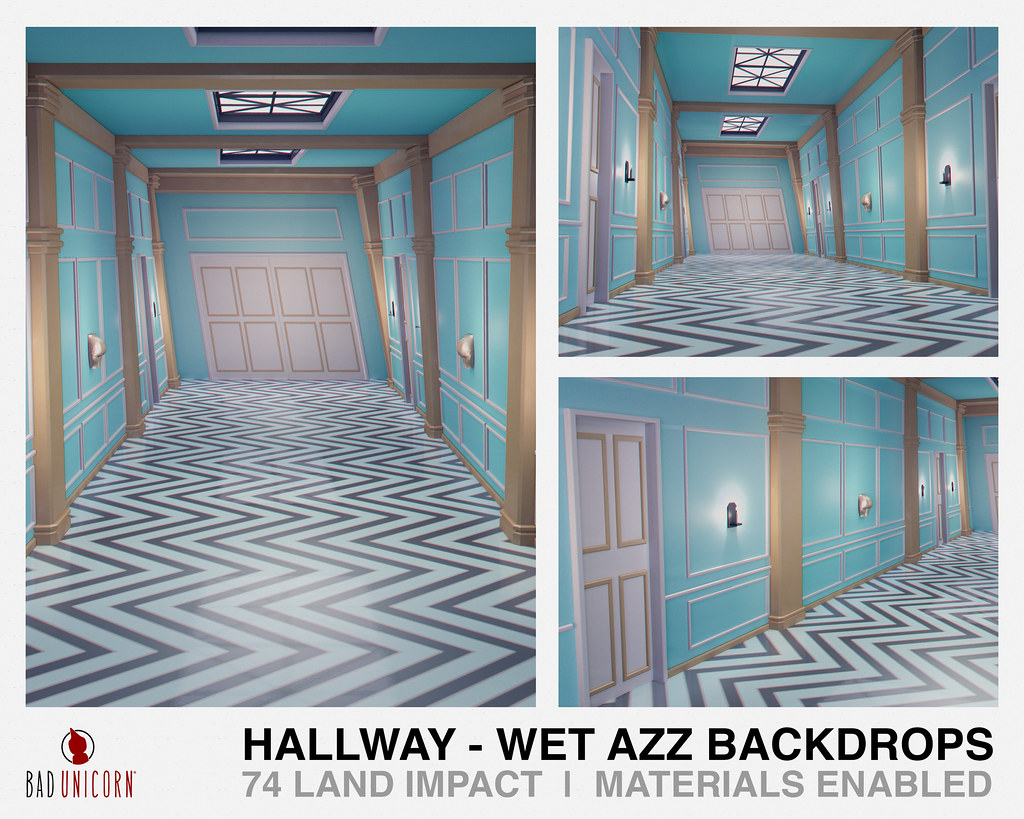 NEW! Hallway – Wet Azz Backdrops