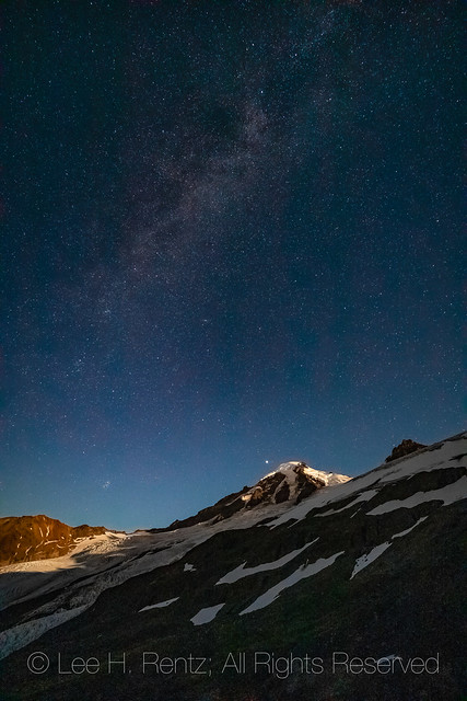 Mount Baker at Night Viewed from Heliotrope Ridge