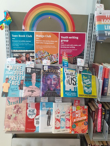 Out on the shelves display, Upper Riccarton Library