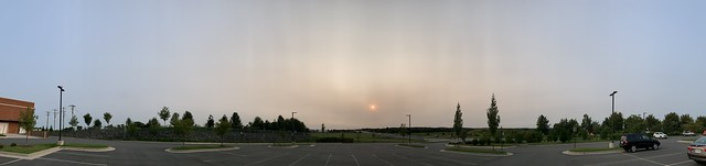 2020 259/366 9/15/2020 TUESDAY - Smoke from the California Fires Over Leesburg Virginia During Sunset