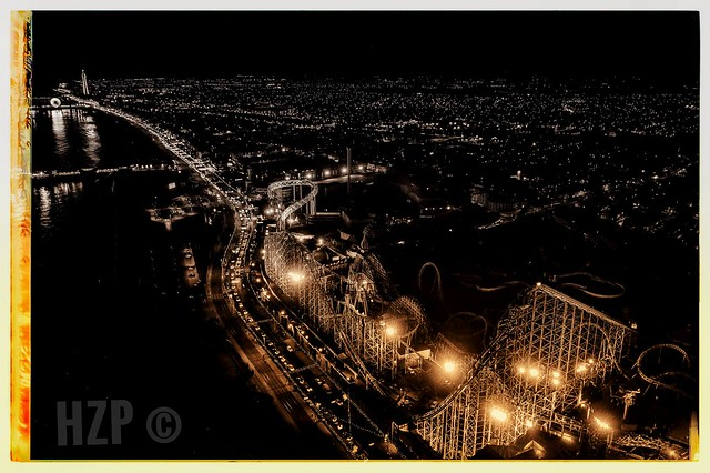 Vintage Blackpool Illuminations from the Air.