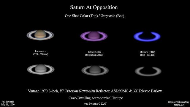 SaturnAtOpposition_Lum_IR_Methane_Composite_20200721_HomCavObservatory_ReSzedDown2HD