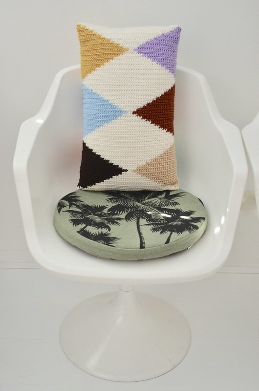 woodwoolstool harlequin pillows