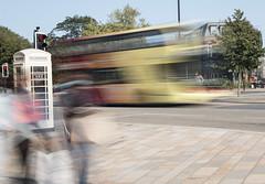Bus blur pedestrian EY