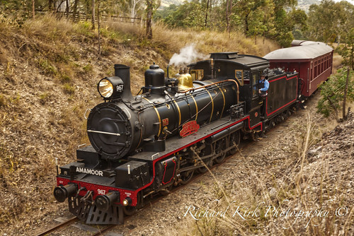 australia queensland dagun train engine steam