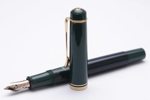 Pelikan m250 verde y negra