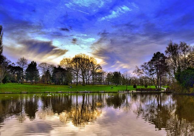 Serene shot at Haslam Park, Preston