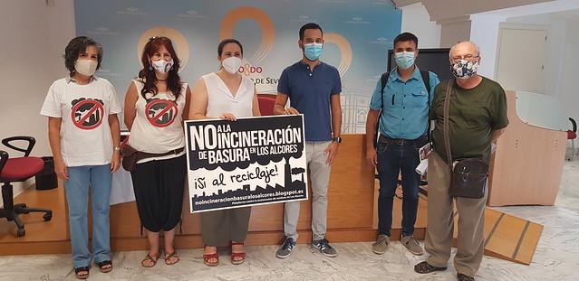 Rueda de prensa Adelante Sevilla - Barrios Hartos - Marea Blanca y Plataforma contra la incineración en Los Alcores