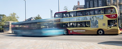 Bus blur stationary