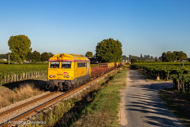 07 septembre 2020 BB 67623 Train 66226 Coutras -> Bergerac Saint-Émillion (33)