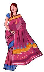 Beautiful Indian Woman Digital Art