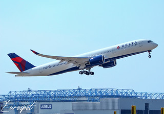N514DN Airbus A350 Delta, delivery flight