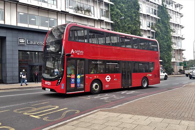 SK20BFZ (ADL Enviro 400 MMC #HT2- Arriva London) Catford Road/Lewisham Town Hall